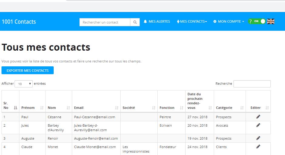 screenshot 1001 contacts